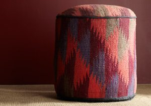 One of a Kind Poufs & Carpets