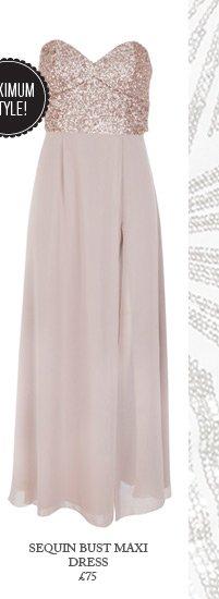 Sequin Bust Maxi Dress
