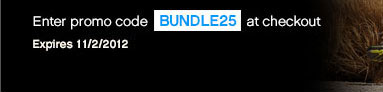 Enter promo code BUNDLE25 at checkout | Expires 11/2/2012