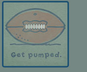 Get Pumped Football on Pine Grey