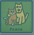 Peace Cat/Dog on Simple Green