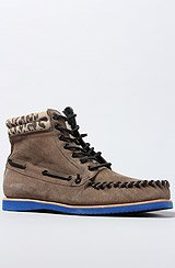 The Ankle Pad Moccasin Boots in Gris