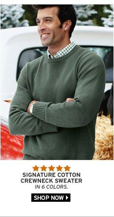 Signature Cotton Crewneck Sweater