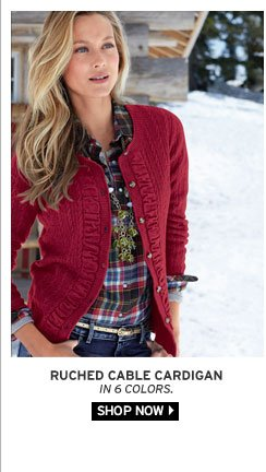 Ruched Cable Cardigan