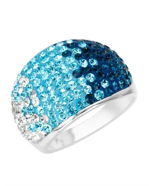 Fuzion Crystal Graduated Blue Crystal Ring $19