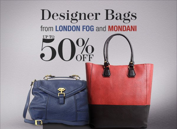 Mondani & London Fog Designer Bags: up to 50% off + US$10 Coupon