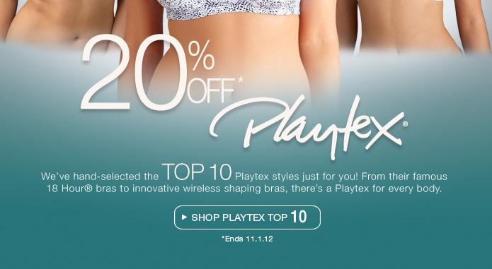 Shop Playtex Top 10