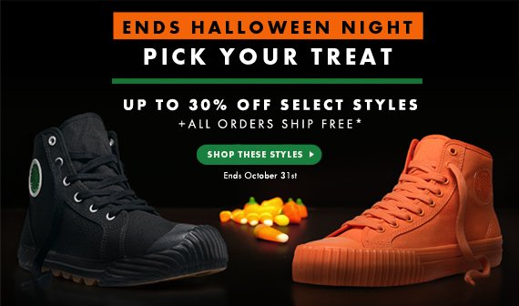 Up To 30% Off Select Styles Through Halloween