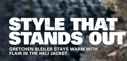 STYLE THAT STANDS OUT | GRETCHEN BLEILER STAYS WARM WITH FLAIR IN THE HELI JACKET