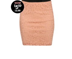 Lace Crochet Bodycon Skirt