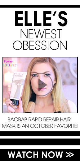 Elle's Newest Obsession's Baobab Rapid Repair Hair Mask is an October Favorite! See here>>