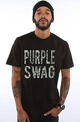 The Purple Swag Tee in Black ASVP