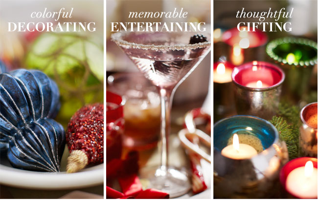 colorful DECORATING - memorable ENTERTAINING - thoughtful GIFTING