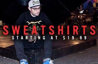Sweatshirts Starting at $19.99