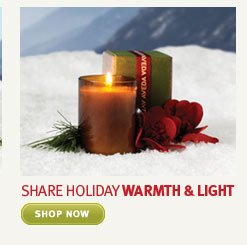 share holiday warmth and light.  shop now