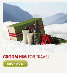 groom him for travel. shop now