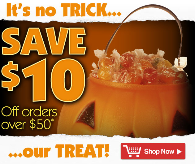 Save $10 on orders over $50* 3 Days Only - ends at Midnight, October 31