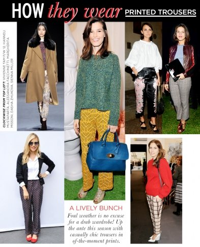 How They Wear: Printed Trousers