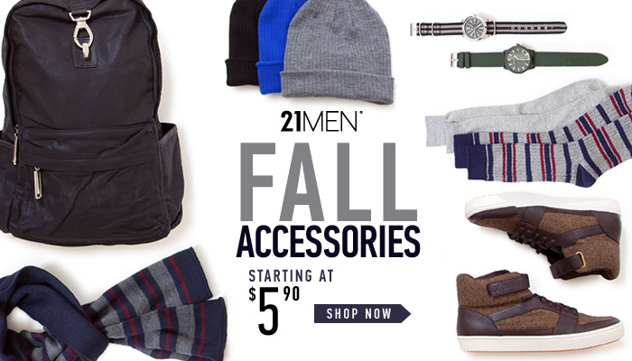 Men's Fall Accessories Starting at $5.90 - Shop Now