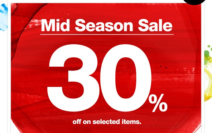 Mid Season Sale 30%