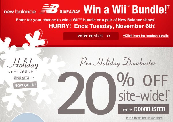 Win a Wii from New Balance & ShoeMall!