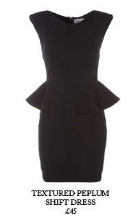 Textured Peplum Shift Dress