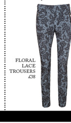 Flocked Tailored Trousers
