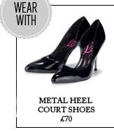 Metal Heel Court Shoes