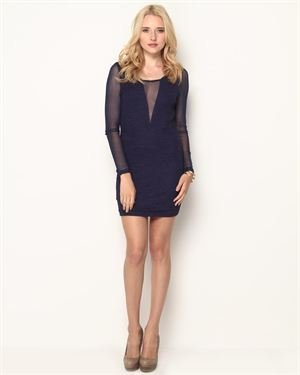ICU Sheer Inset Dress $25