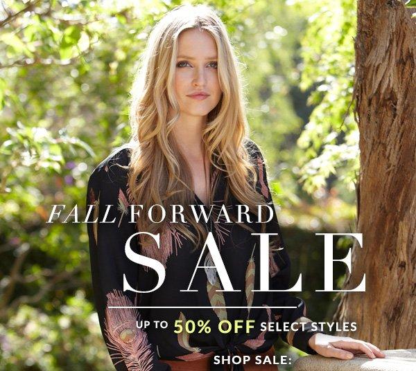 Fall Forward Sale