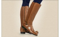 Isaac Mizrahi Live!TM  --  Gored Leather Riding Boots