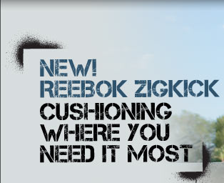 New! Reebok ZigKick | Cushioning Where You Need It Most