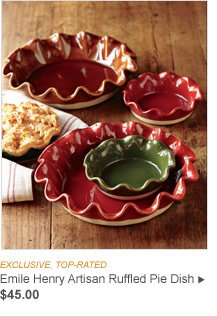 EXCLUSIVE, TOP-RATED - Emile Henry Artisan Ruffled Pie Dish, $45.00