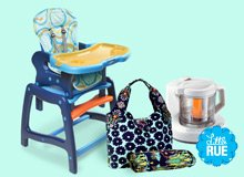 Baby on Board High Chairs, Diaper Clutches, & More