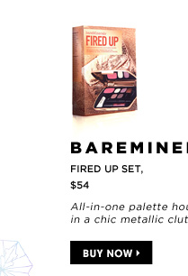 All-in-one palette housed in a chic metallic clutch. bareMinerals Fired Up Set, $54. Buy now