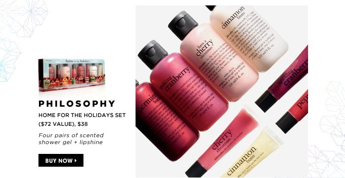 Four pairs of scented shower gel + lipshine. new . exclusive . limited edition. Philosophy Home For The Holidays Set, $38