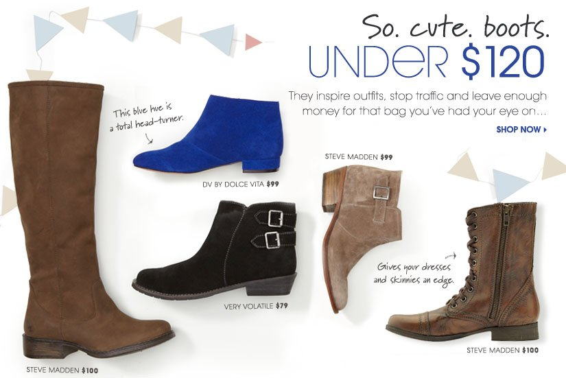 So. cute. boots. UNDER $120. SHOP NOW