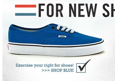 Exercise your right for shoes!