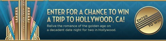 Relive the romance of the golden age on a decadent a decadent date night for two in Hollywood!