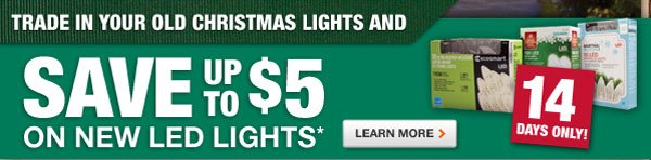 Save up to $5 on new LED lighting
