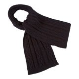 Paul Smith Scarves - Navy Cable Knit Scarf