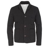Paul Smith Jackets - Grey Quilted Down Jacket
