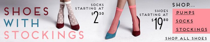 Shoes with Stockings - Shop Now