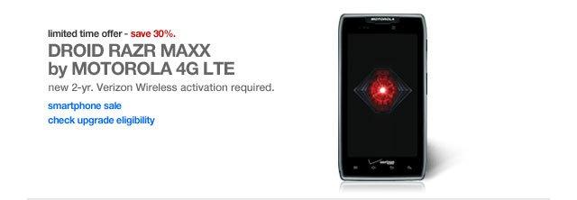 DROID RAZR MAXX by MOTOROLA 4G LTE.