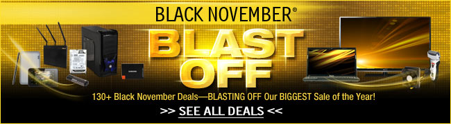 Black November - Blast off 130 black november deals