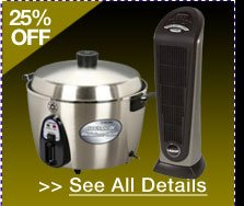 48 HOURS ONLY! 25% OFF SELECT HOME APPLIANCES!* See All Details