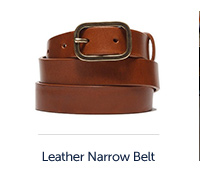 Stretto Cognac Leather Belt