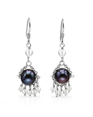 Ladies Freshwater Pearl Earrings Designed In 925 Sterling Silver $15