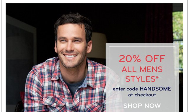 20% off must-haves for your man