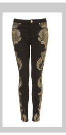 MOTO Premium Embroidered Skinny Jeans